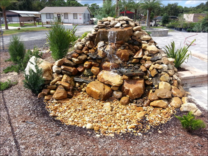 Water features for fountains waterfalls gardens pools for Landscaping rocks in jacksonville fl